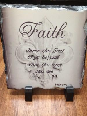 Hebrews111  Slate Plaque - 3 pieces