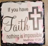 Faith Cross Plaque - Set of 3