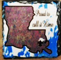 Proud to call it home Slate Plaque - Set of 3
