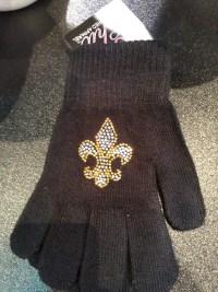 Rhinestone Fleur de Lis Gloves