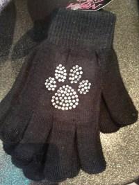 Rhinesone Paw Print Gloves
