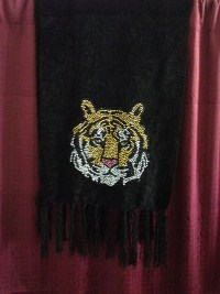 Rhinestud Tiger Head Scarf